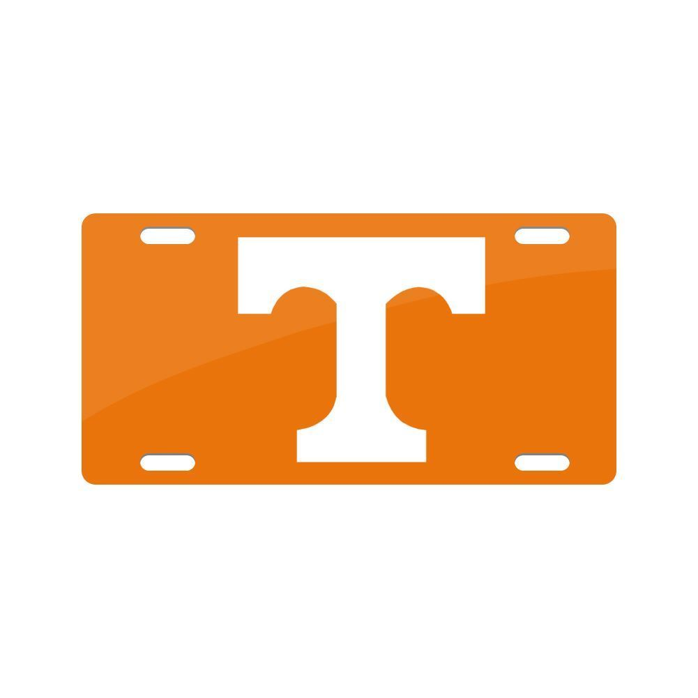Jay Mac Sports NCAA Tennessee Volunteers Metal License Plate Orange