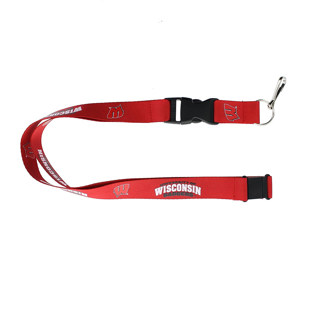 Aminco NCAA Wisconsin Badgers Breakaway Lanyard Red