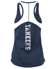 5th & Ocean MLB Women's New York Yankees Foil Tank Top