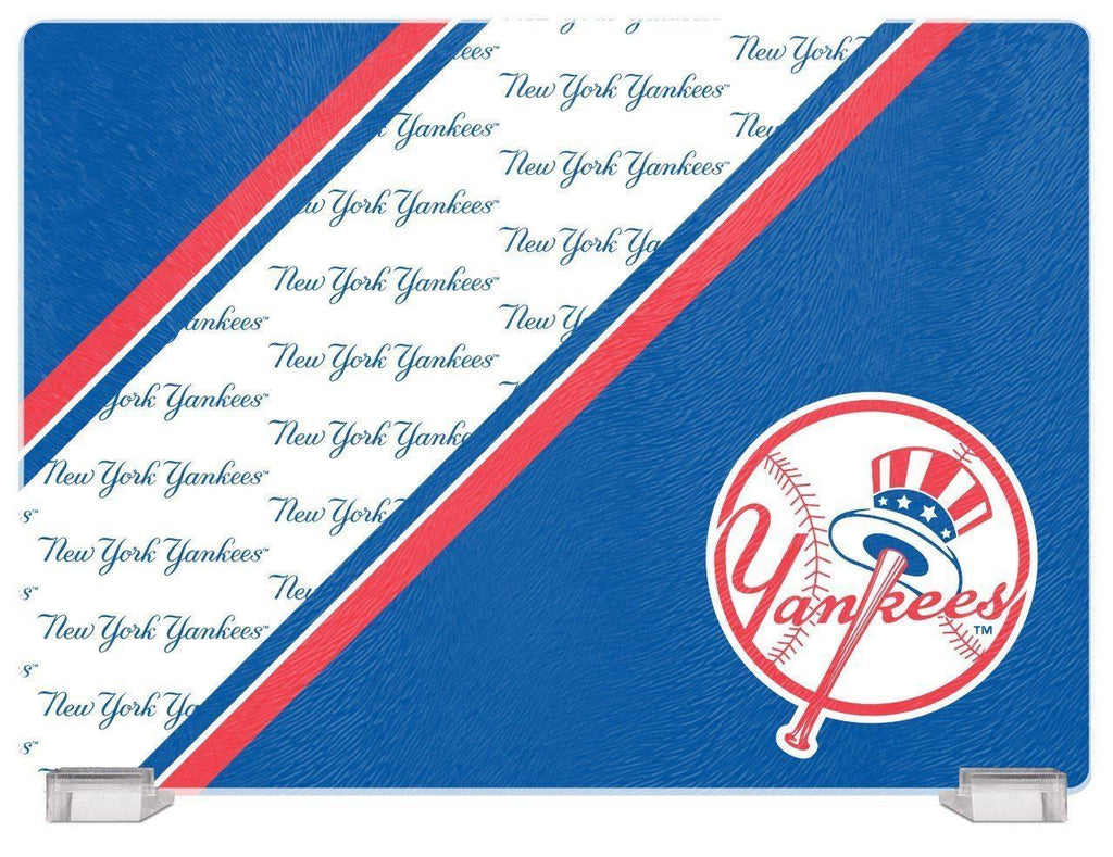 "Duckhouse MLB New York Yankees Glass Cutting Board 14""x10"""