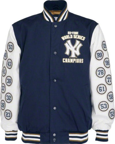 G-III MLB New York Yankees Cotton Canvas World Series Champions Commemorative Jacket