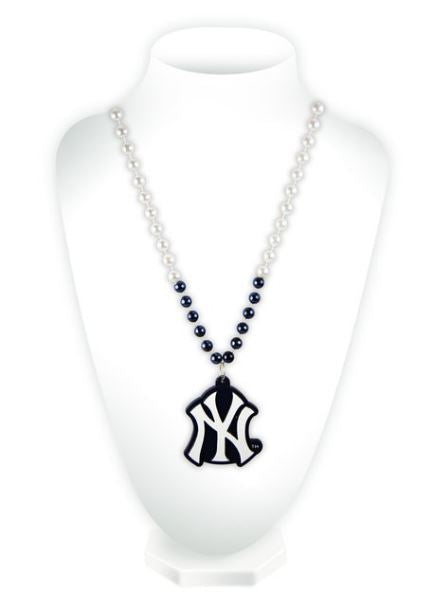 Rico MLB New York Yankees Beads with Logo Medallion