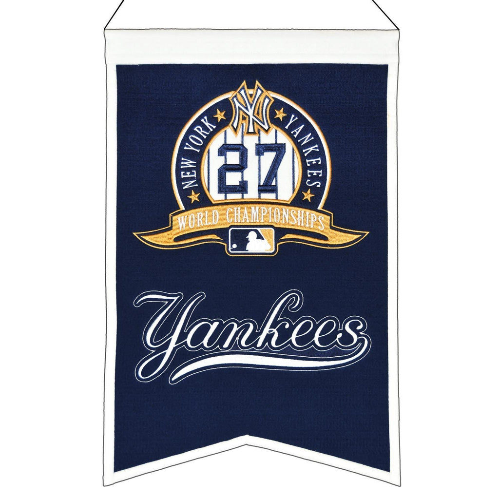 "Winning Streak MLB New York Yankees World Series Champions Banner 14""x22"""