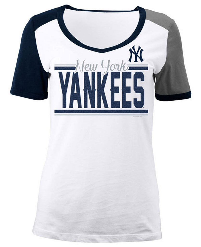 5th & Ocean MLB Women's New York Yankees Space Dye T-Shirt