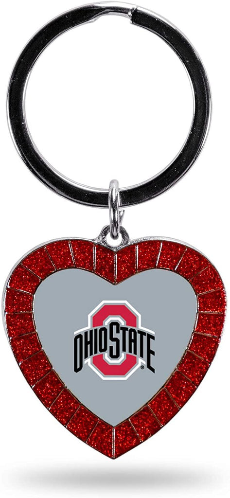 Rico NCAA Ohio State Buckeyes Rhinestone Heart Colored Keychain