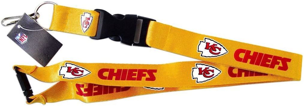 Aminco NFL Kansas City Chiefs Breakaway Lanyard Gold