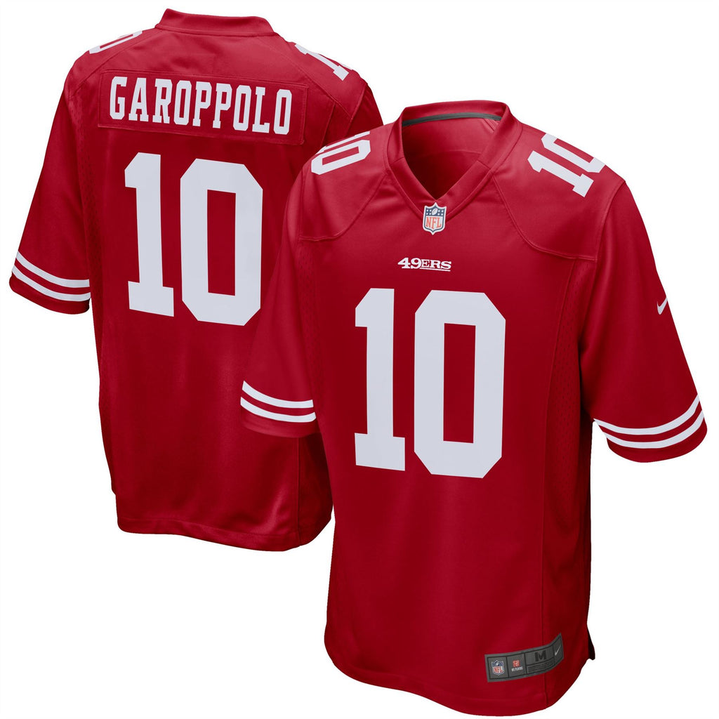Nike NFL Men's #10 Jimmy Garoppolo San Francisco 49ers Game Jersey Red