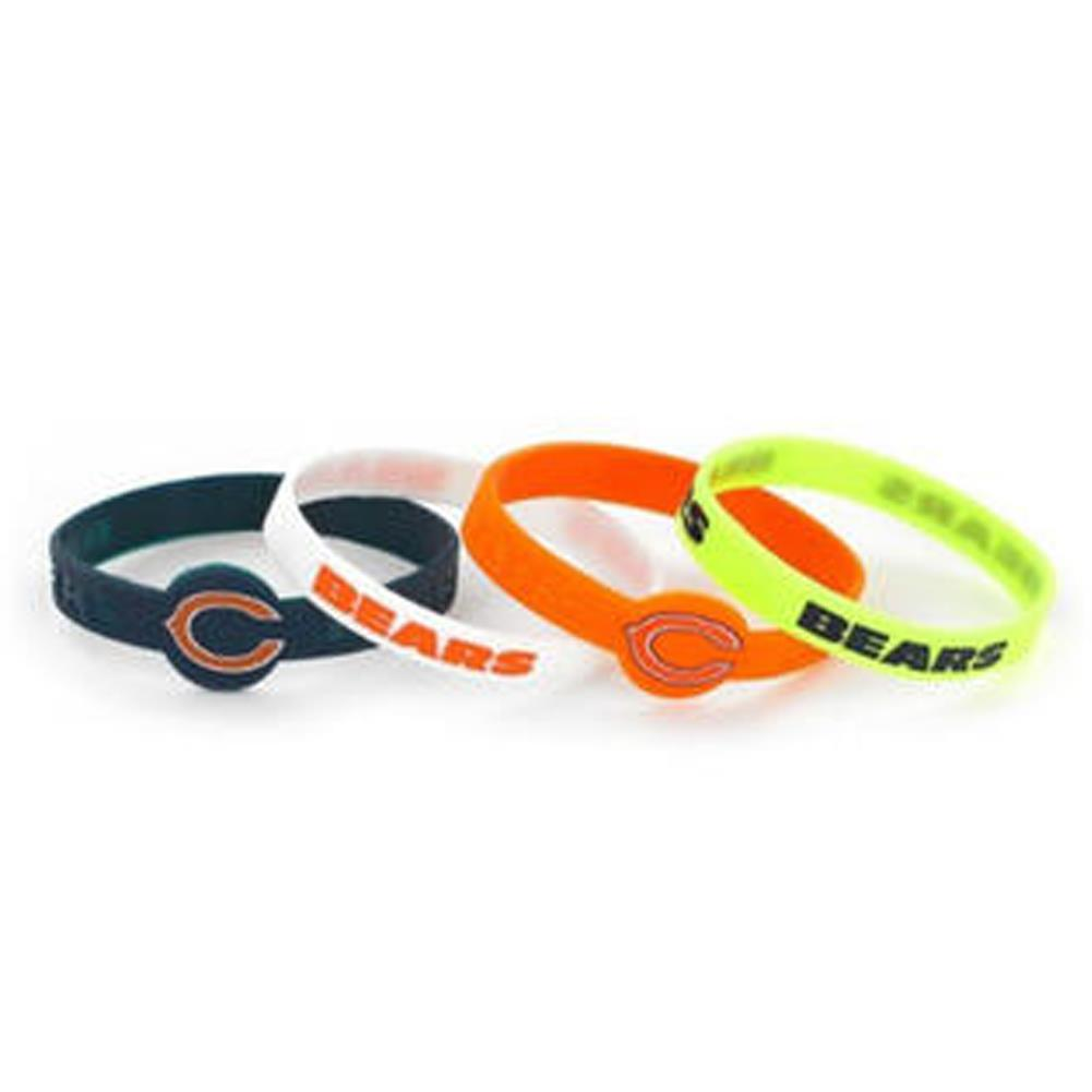 Aminco NFL Chicago Bears 4-Pack Silicone Bracelets
