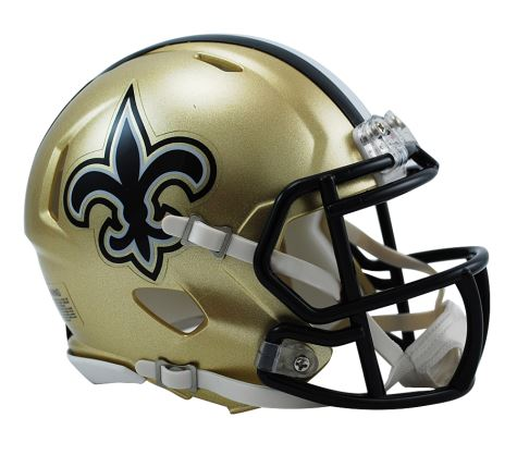 Riddell NFL New Orleans Saints Speed Mini Helmet Gold