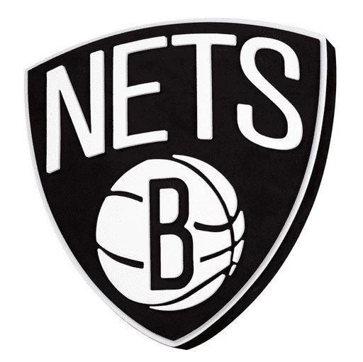 "Foam Fanatics NBA Brooklyn Nets 3D Foam Logo Sign with Strap 14"" x 2"""