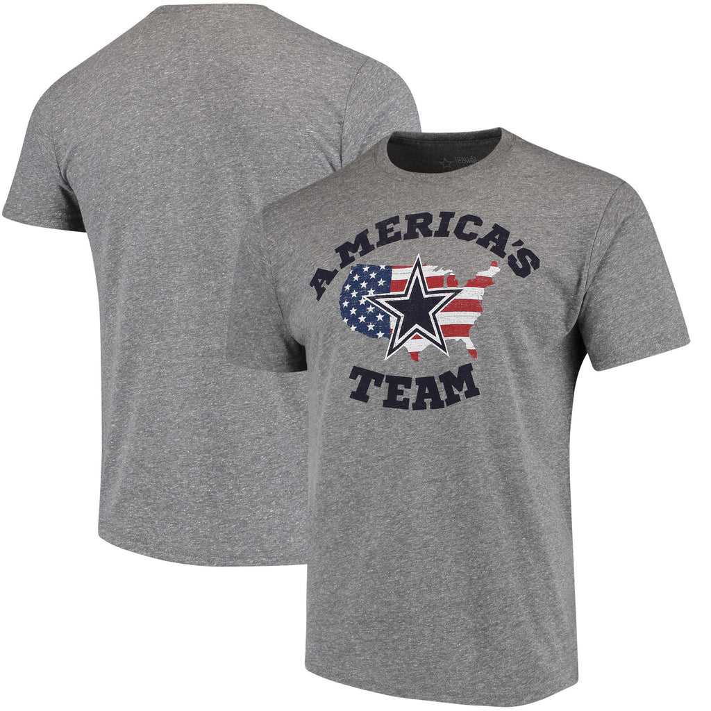 DCM NFL Men's Dallas Cowboys Team America Tri-Blend T-Shirt