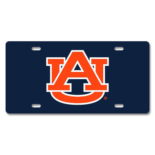 Jay Mac Sports NCAA Auburn Tigers Metal License Plate Navy