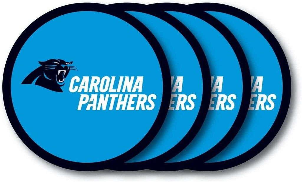 Duck House NFL Carolina Panthers Coaster Set 4-Pack