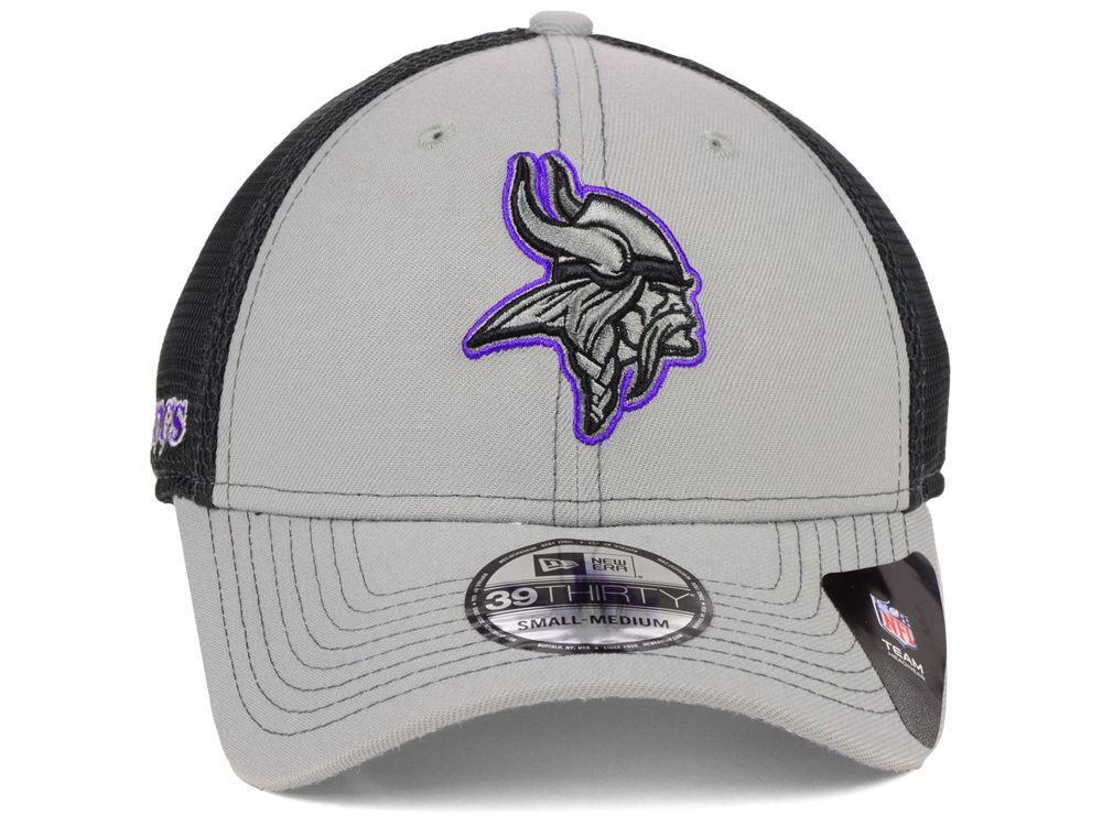 New Era NFL Men's Minnesota Vikings 2 Tone Sided 39THIRTY Hat Gray/Black