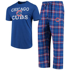 Concept Sports MLB Men's Chicago Cubs Duo Shirt And Pants Pajama Sleepwear Set