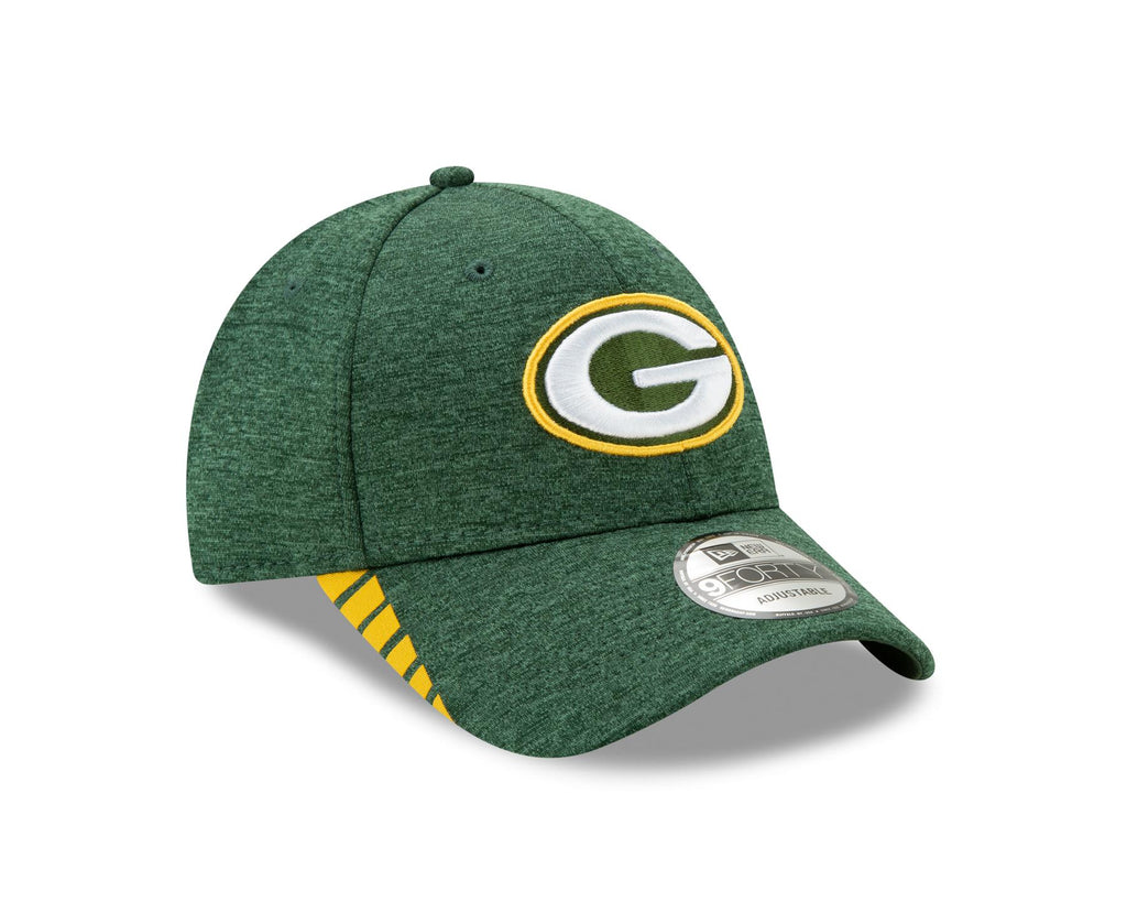 New Era NFL Men's Green Bay Packers Visor Trim 9FORTY Adjustable Hat Green OSFA