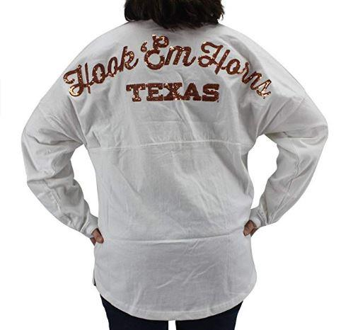 Pressbox NCAA Women's Texas Longhorns Bling Sweeper Long Sleeve T-shirt