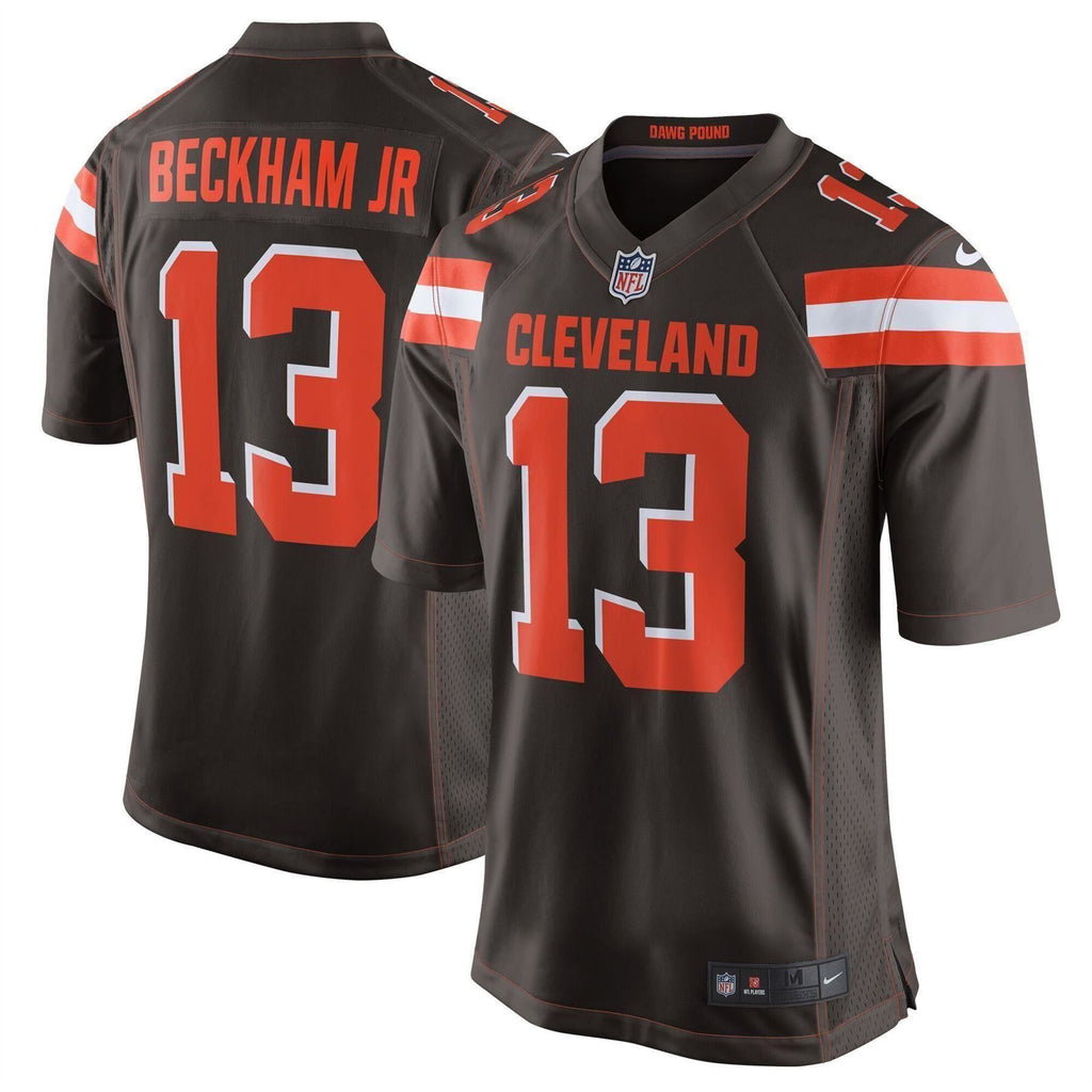 Nike NFL Men's #13 Odell Beckham Jr Cleveland Browns Game Jersey