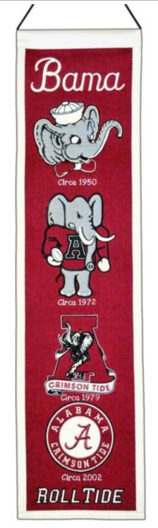 "Winning Streak NCAA Alabama Crimson Tide Heritage Banner 8""x32"""