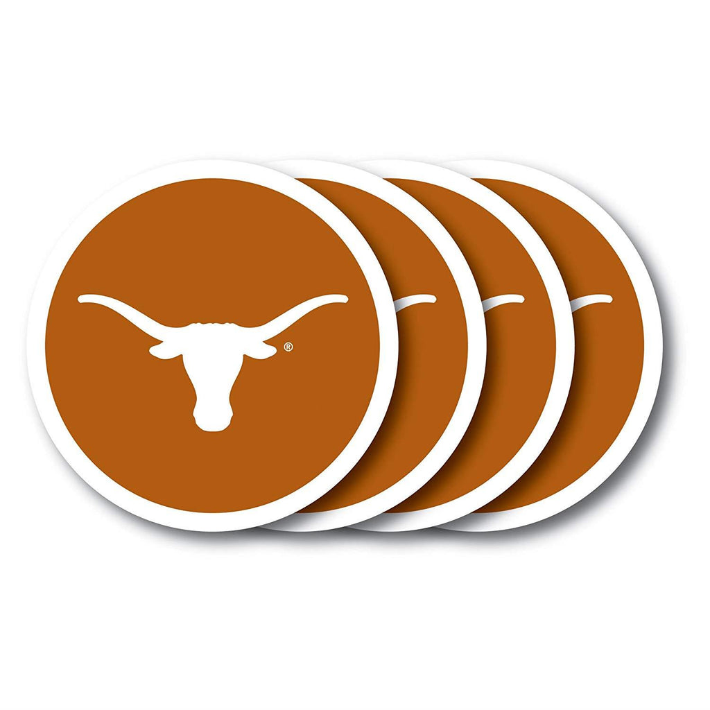 Duck House NCAA Texas Longhorns Coaster Set 4-Pack