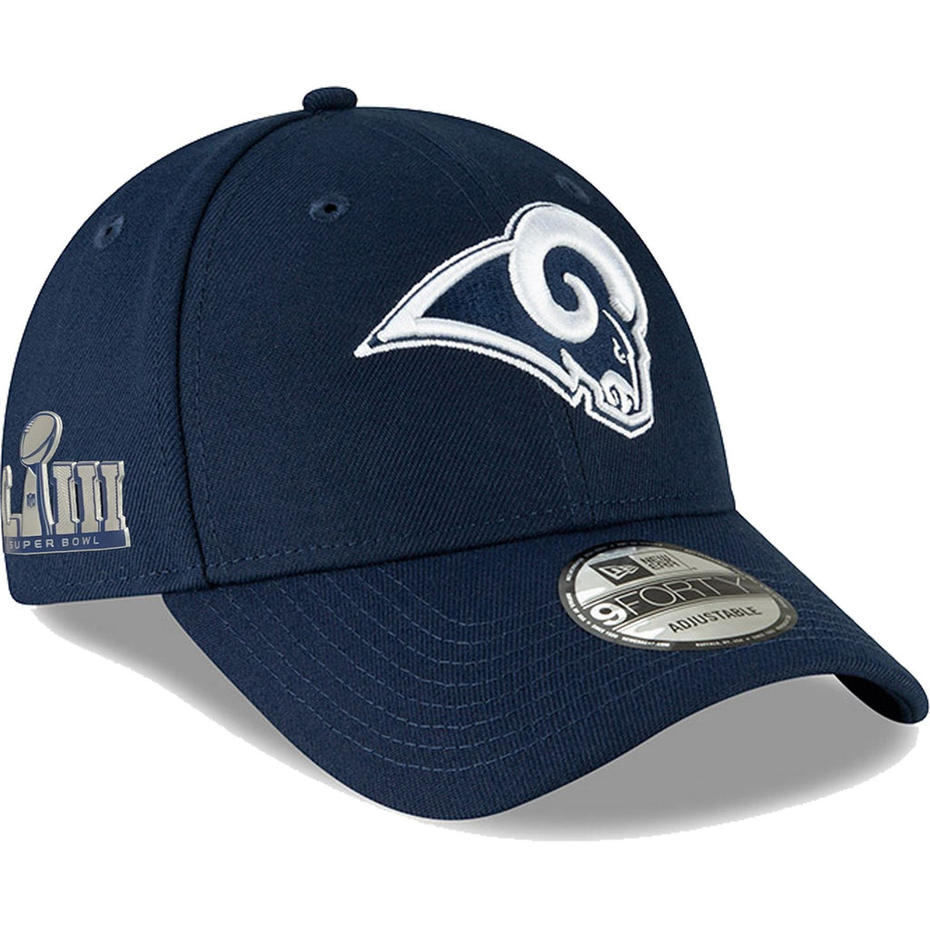 New Era NFL Men's Los Angeles Rams Super Bowl LIII Side Patch The League 9FORTY Adjustable Navy