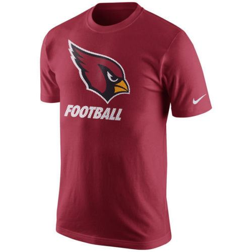 Nike NFL Mens Arizona Cardinals Facility Logo T-Shirt