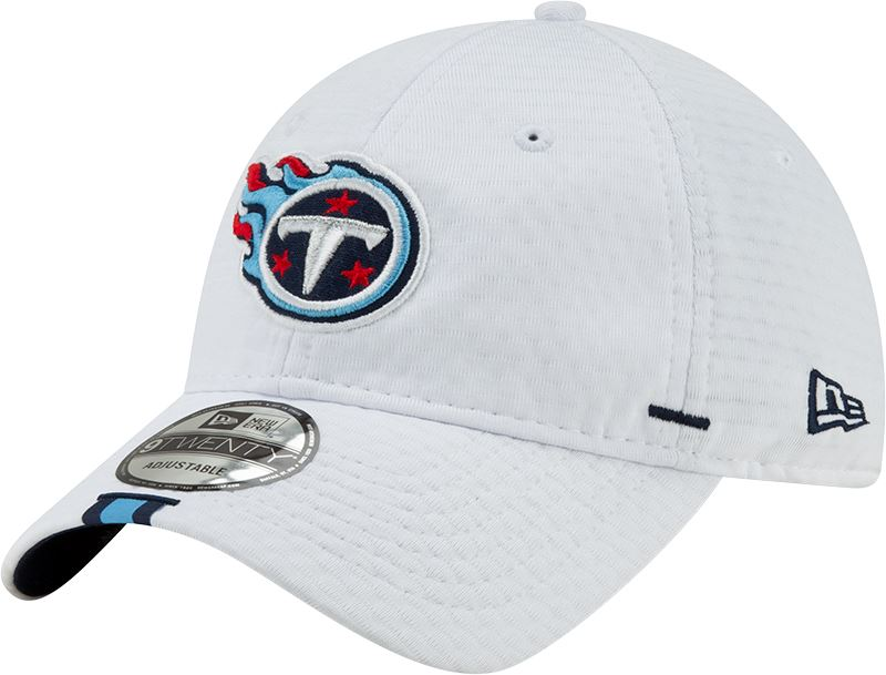 New Era NFL Men's Tennessee Titans 2019 Training Camp 9Twenty Adjustable Hat White OSFA