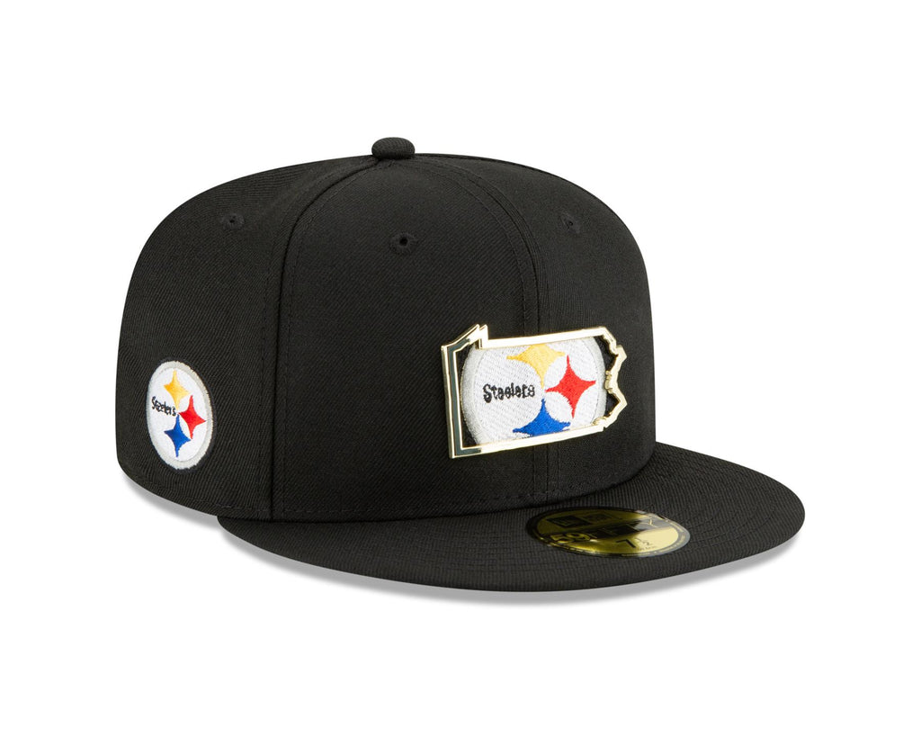 New Era NFL Men's Pittsburgh Steelers MNT State 9FIFTY Adjustable Snapback Hat Black OSFA