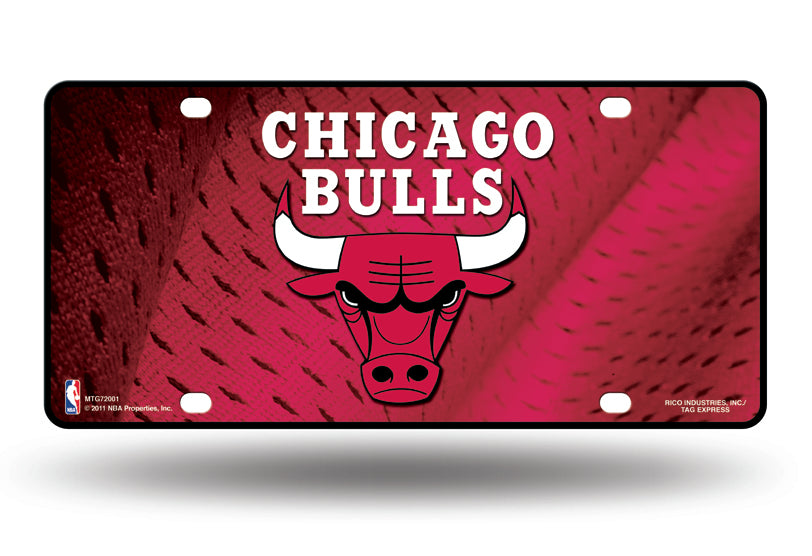 Rico NBA Chicago Bulls Auto Metal Tag Car License Plate MTG