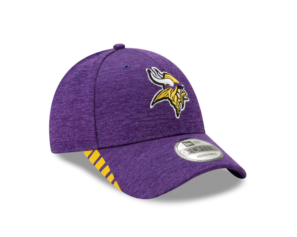 New Era NFL Men's Minnesota Vikings Visor Trim 9FORTY Adjustable Hat Purple OSFA
