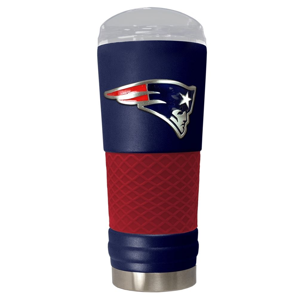 Great American Products NFL New England Patriots Powder-Coat Draft Tumbler 24oz Navy
