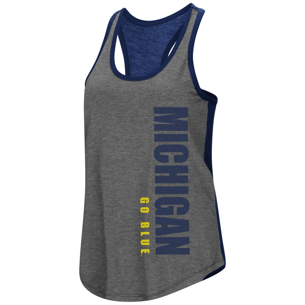 Colosseum NCAA Women's Michigan Wolverines Share It Racerback Tank Top