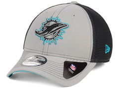 New Era NFL Men's Miami Dolphins 2 Tone Sided 39THIRTY Hat Gray/Black