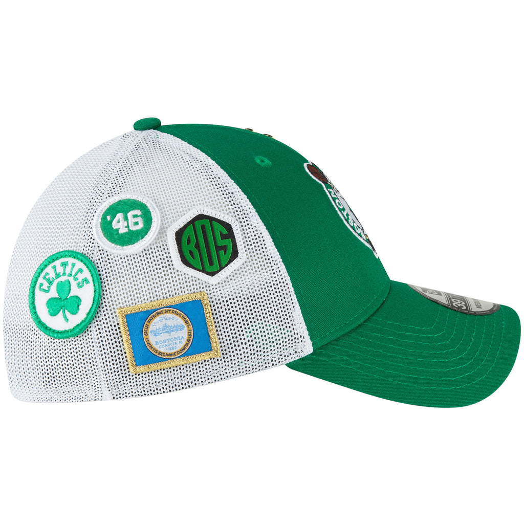 ccd5e214152 ... usa new era nba mens boston celtics 2018 nba draft hat 39thirty flex fit  27d4e 6faef ...