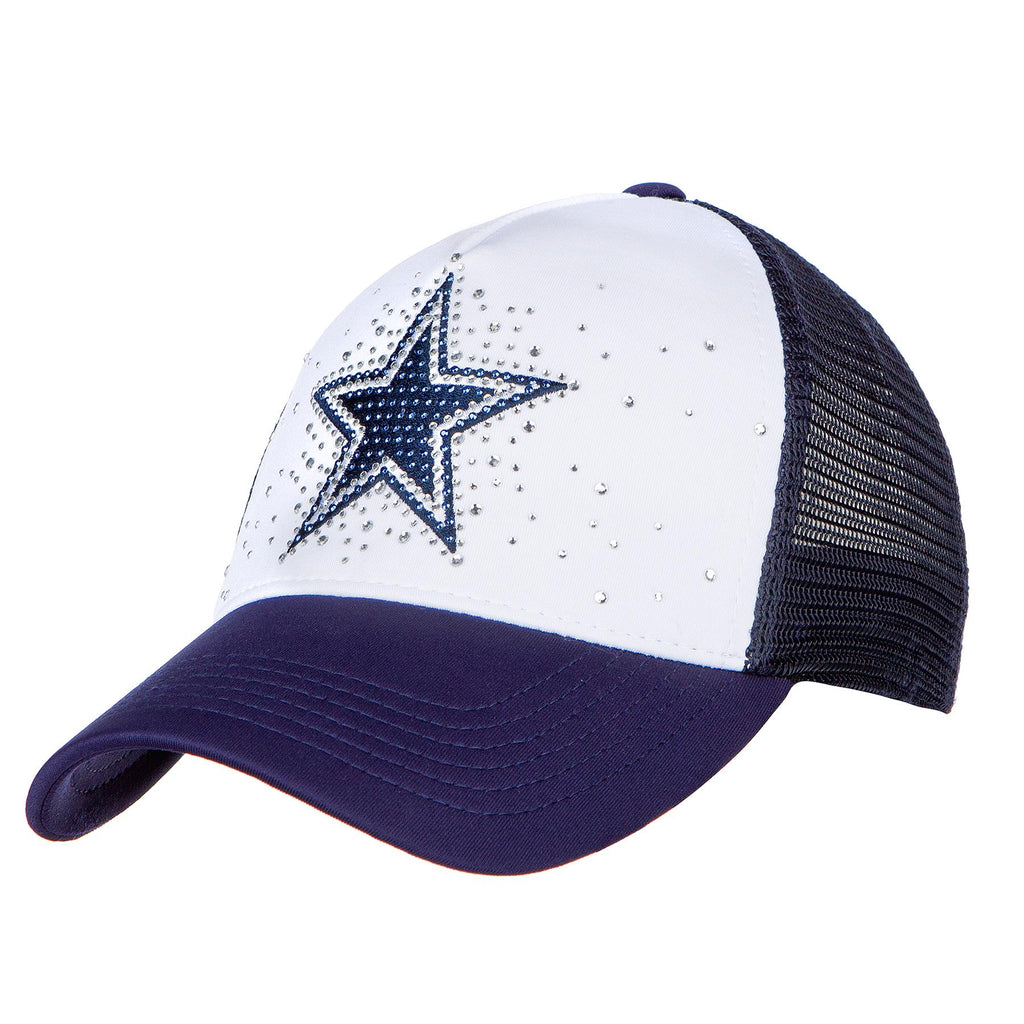 DCM NFL Women's Dallas Cowboys Cheer Adjustable Snapback Hat Navy/White