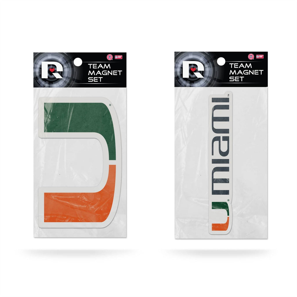 Rico NCAA Miami Hurricanes 2-Piece Magnet Set