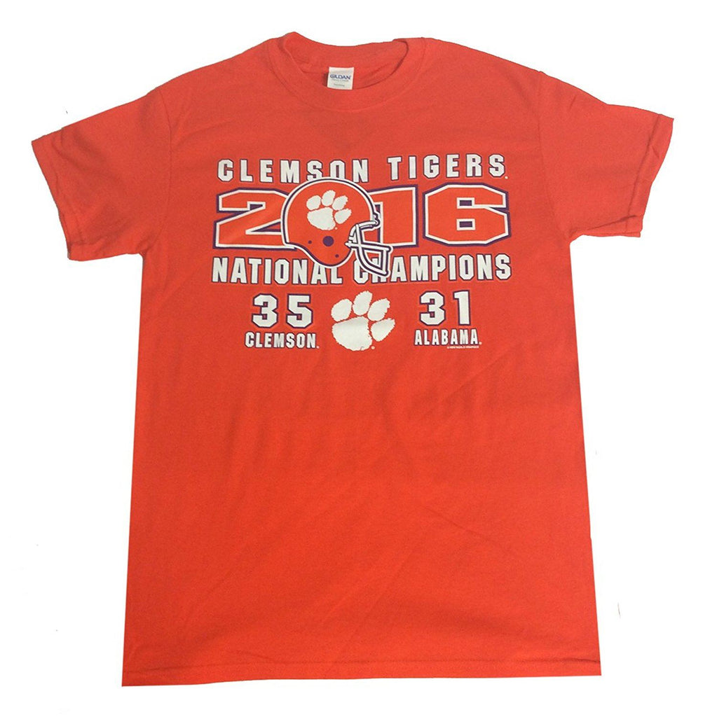 New World Graphics NCAA Men's Clemson Tigers National Champions 2016 FB First T-Shirt