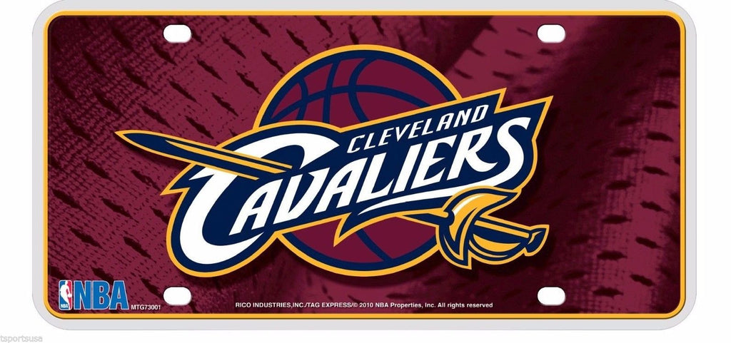 Rico NBA Cleveland Cavaliers Auto Metal Tag Car License Plate MTG