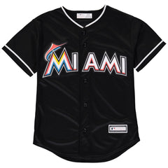 Majestic MLB Youth Miami Marlins Alternate Replica Jersey Black