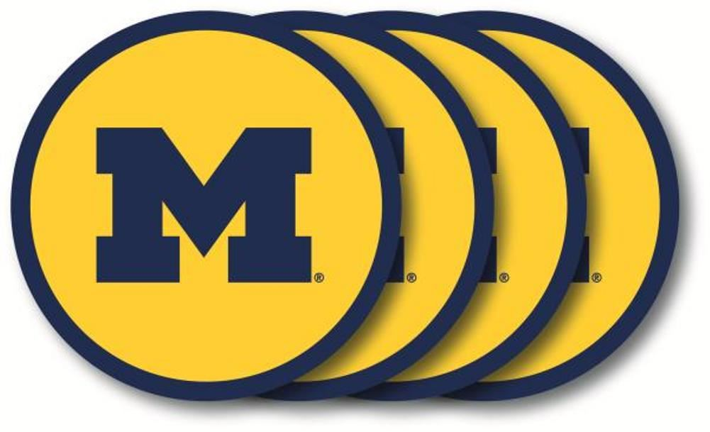 Duck House NCAA Michigan Wolverines Coaster Set 4-Pack