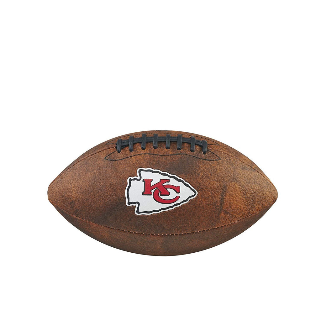 Wilson NFL Kansas City Chiefs Team Logo Throwback Junior Football Brown11 Inch