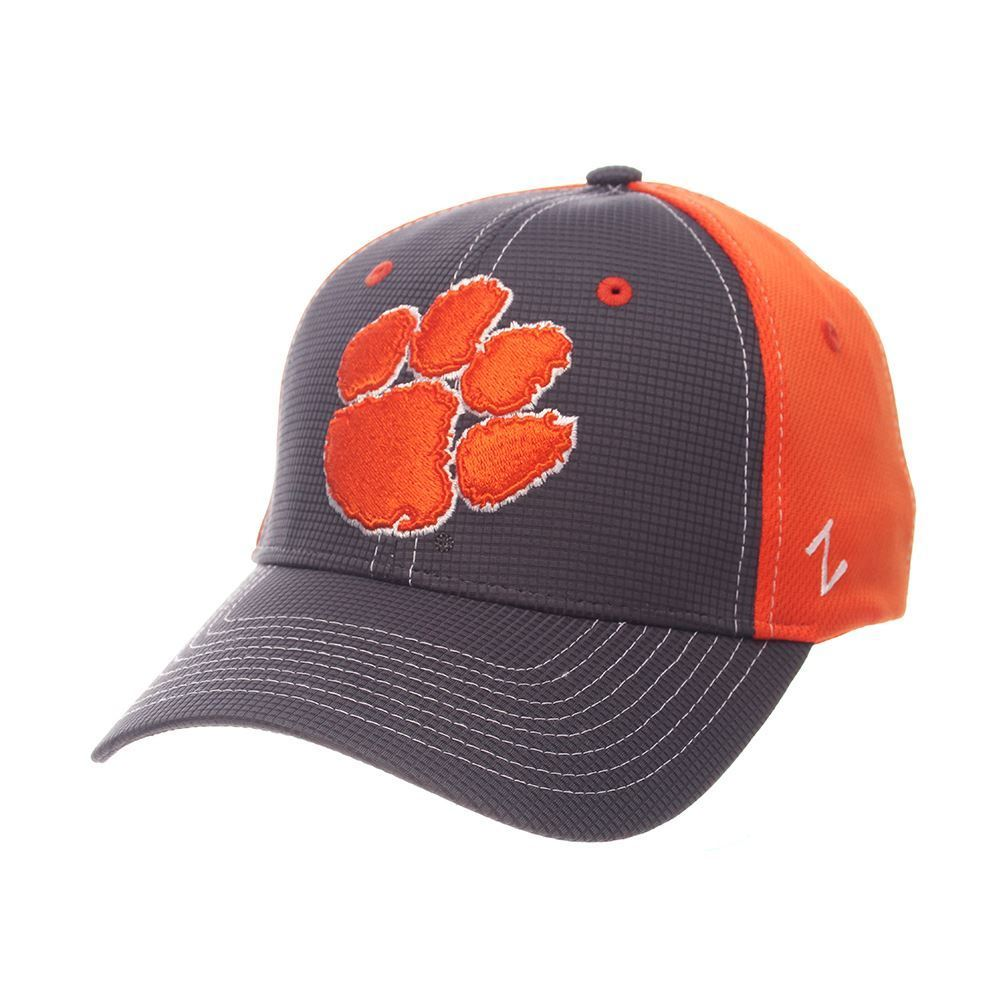 Zephyr NCAA Men's Clemson Tigers Grid Paw Cap