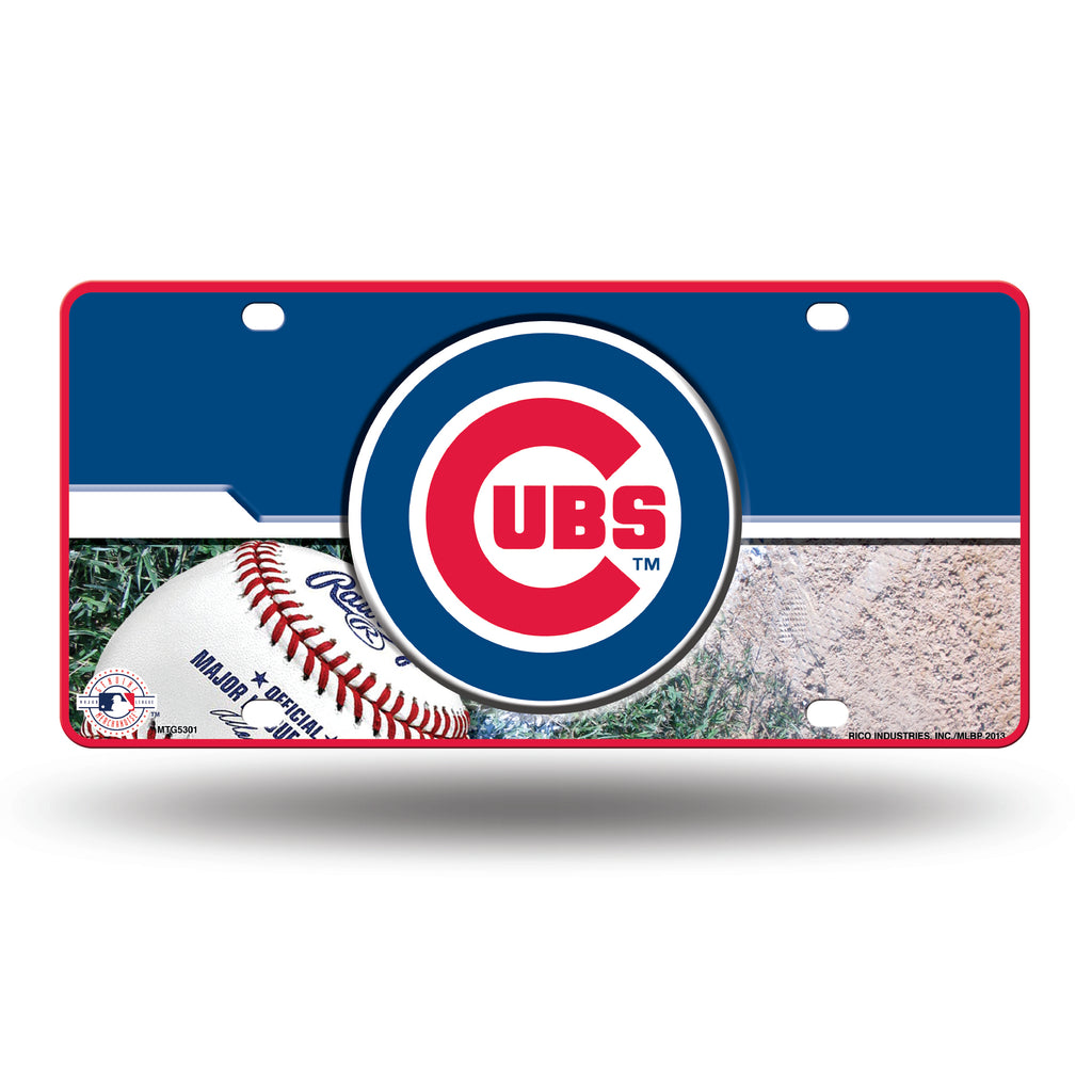 Rico MLB Chicago Cubs Auto Metal Tag Car License Plate MTG