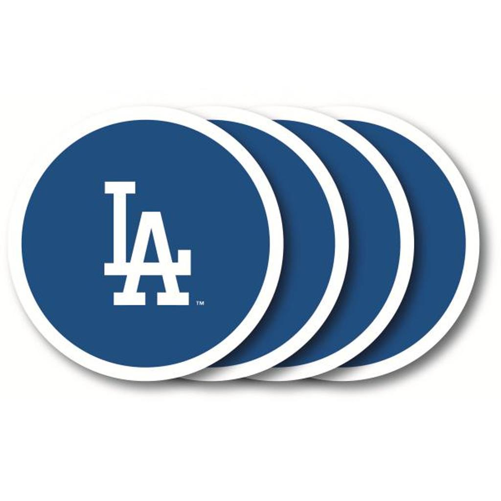 Duck House MLB Los Angeles Dodgers Coaster Set 4-Pack