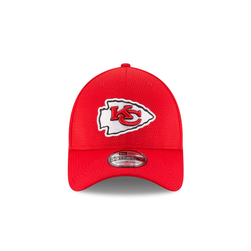 New Era NFL Kansas City Chiefs Sideline Tech Flex Hat 39THIRTY Red