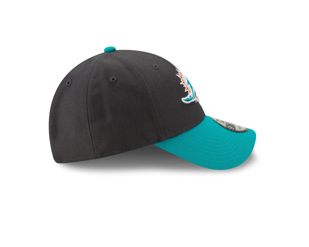 New Era NFL Men's Miami Dolphins The League Graphite 9FORTY Adjustable Hat Graphite One Size