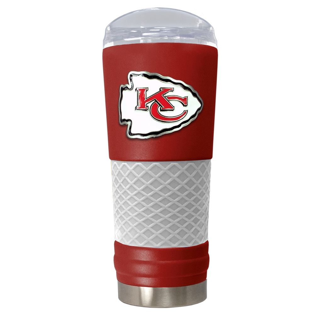 Great American Products NFL Kansas City Chiefs Powder-Coat Draft Tumbler 24oz Red