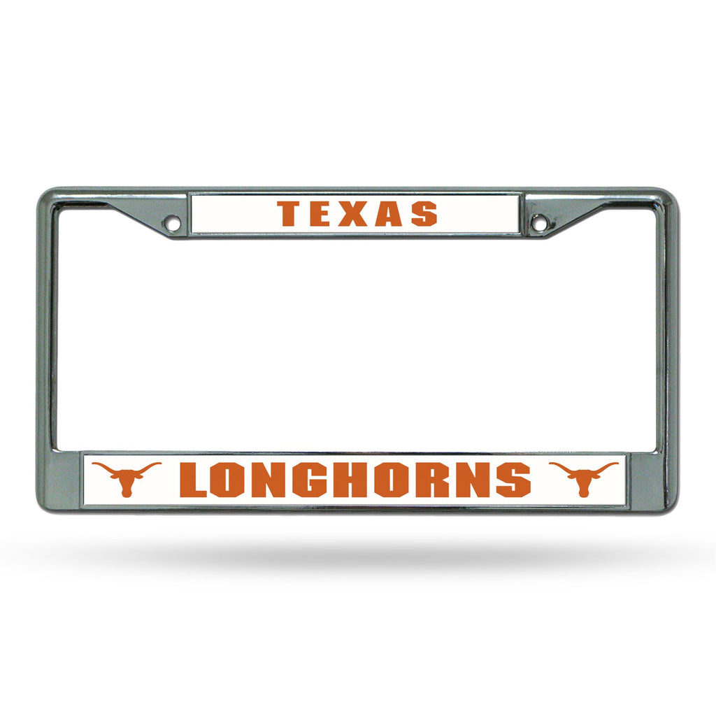 Rico NCAA Texas Longhorns Auto Tag Chrome Frame FC05
