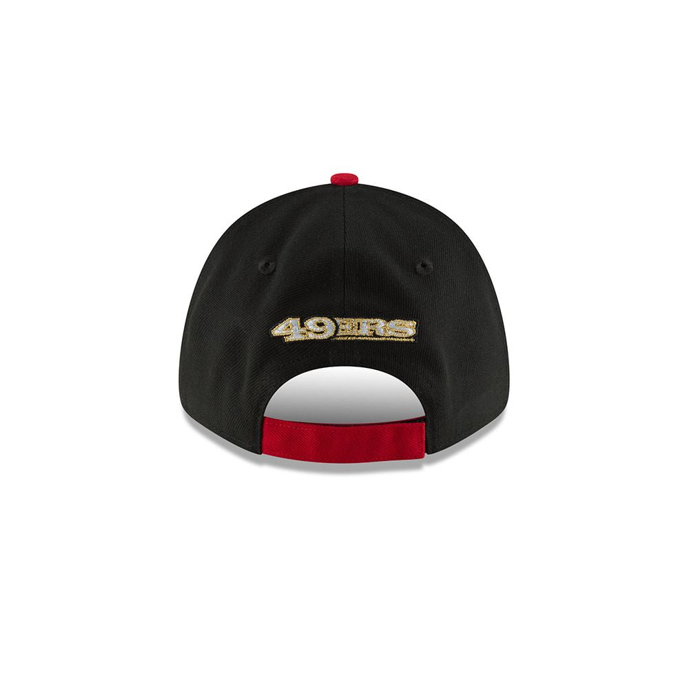 save off 5c355 69fdc New Era Men s NFL San Francisco 49ers NE Blocked Team 9FORTY Adjustable Hat  Red Black ...