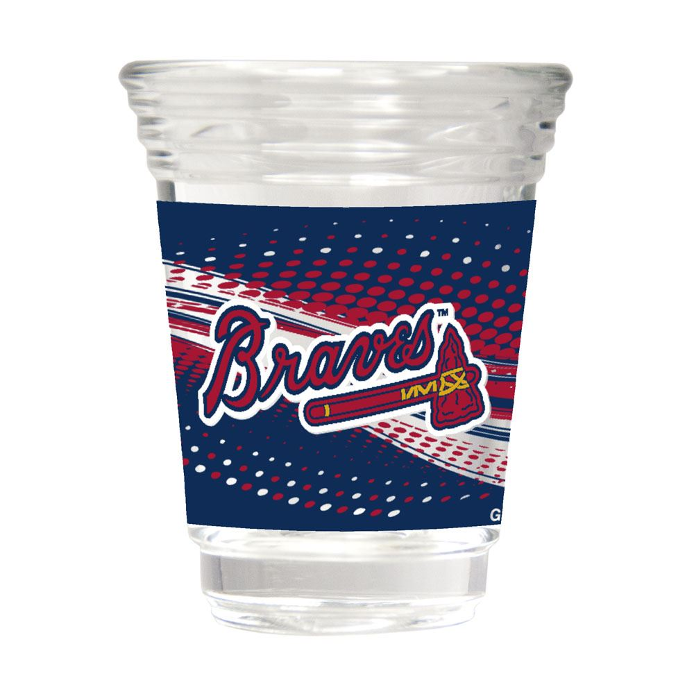 Great American Products MLB Atlanta Braves Party Shot Glass w/Metallic Graphics 2oz.